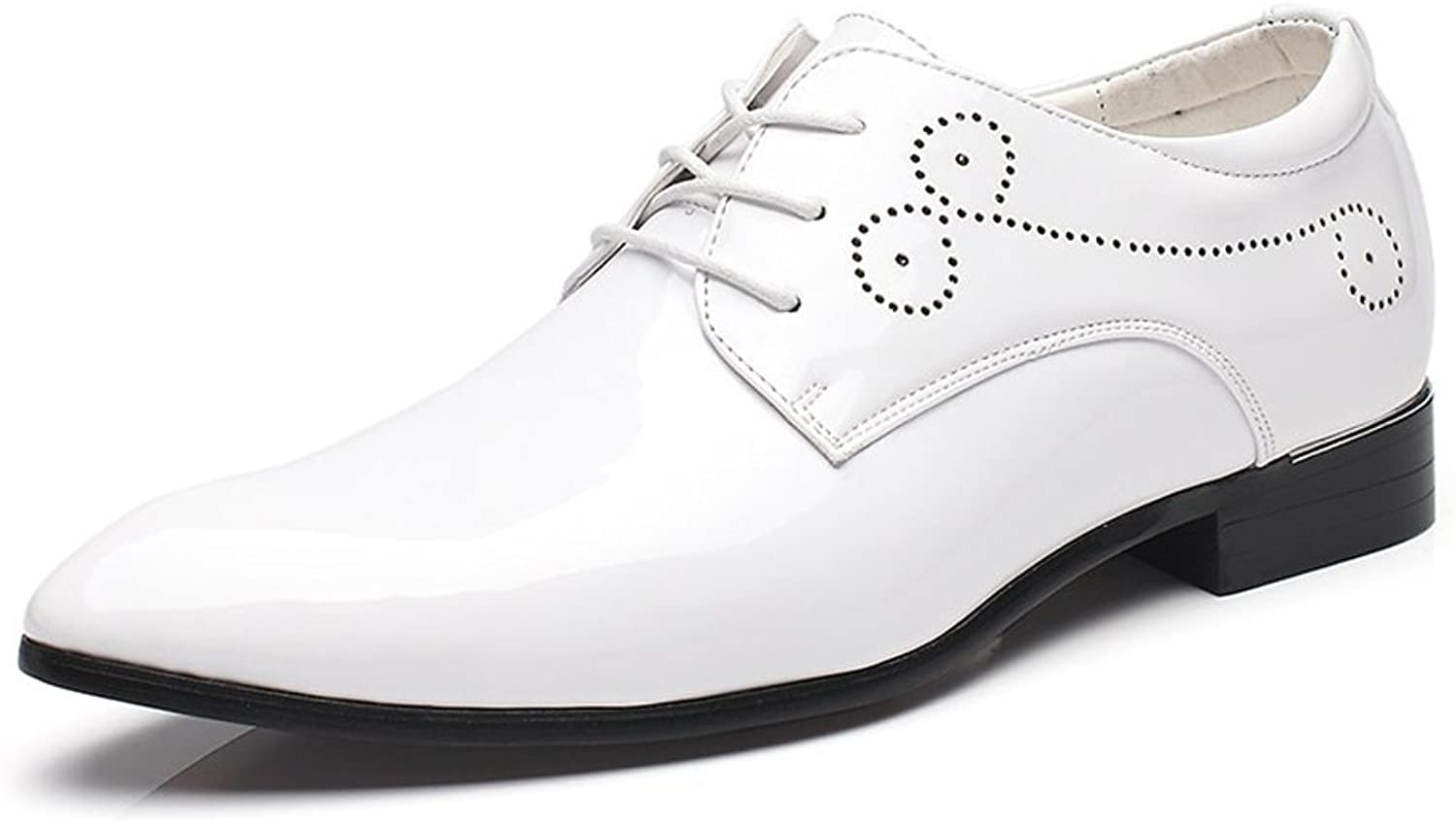 Z.L.F Men's Formal shoes Burnished Smooth PU Leather shoes Classic Lace Up Business Tuxedo Oxfords shoes