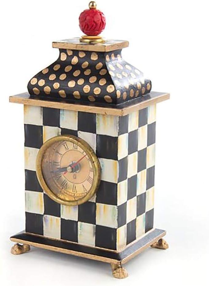 Reloj de manto de madera, Relojes de escritorio de madera decorativos silenciosos Mesa antigua Mesa de antigüedades en blanco y negro Cuarto de hogar Decorativo Batería Adornos Retro Adornos Retro Nór