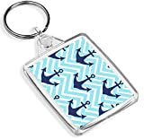 Nautical Print Keyring Anchor Sailing Seaside Sea Boat Cool Keyring Gift #8848