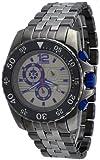 Oniss #ON4220-MTT Men's Iceberg Blue Gunmetal Stainless Steel Chronograph Watch