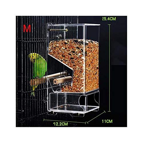 CHONGYA Vogelvoeders voor Buiten Automatische Voeding Vogel Voedsel Containers Starling Tijger Pioen Cockatiels Vogelduif benodigdheden Kunststof M-2