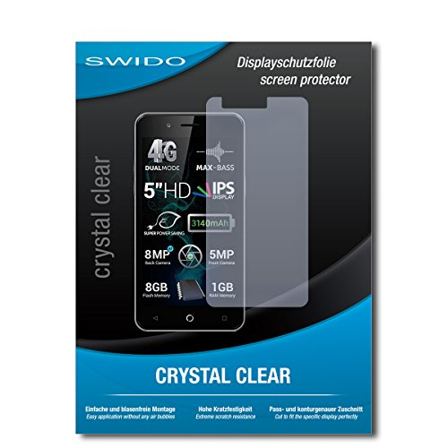 SWIDO Schutzfolie für Allview P6 Pro [2 Stück] Kristall-Klar, Hoher Festigkeitgrad, Schutz vor Öl, Staub & Kratzer/Glasfolie, Bildschirmschutz, Bildschirmschutzfolie, Panzerglas-Folie