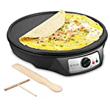 Electric Crepe Maker, iSiLER Nonstick Electric Pancakes Maker Griddle, 12 inches Electric Crepe Pan...