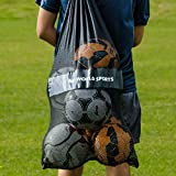 FORZA Sac à Ballons de Football/Basket-Ball – Sac Filet en Maille pour Transporter Balles de Sport
