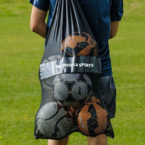 FORZA Bolsa para Balones de Fútbol Baloncesto: Red Malla Cargabalones para Pelotas Deportivas