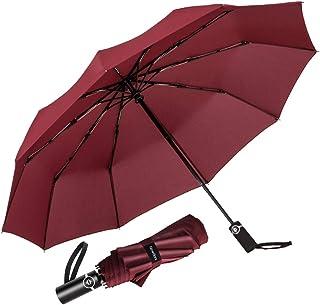 Newdora Ombrello Portatile Automatico Antivento, Ombrello Pieghevole Compatto Resistente Leggero con Custodia Impermeabile...