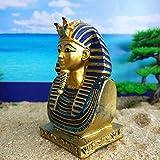 DDTing Tutankamón de faraón egipcio - Decoraciones de manualidades de resina - Pequeño rey antiguo faraón egipcio - Momia Insertar reliquia de artefacto buenoServicio