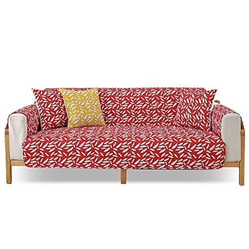 PETCUTE Funda para Sofa Cubre Sofás 3 Plaza Antideslizante Protector para Sofás Acolchado Funda de Cojín de Protección Antisuciedad 1 Pieza Rojo