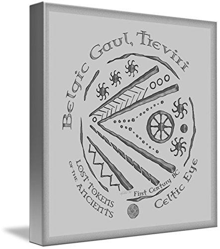 Wall Art Print entitled Celtic Eye Coin by Kristen Fox