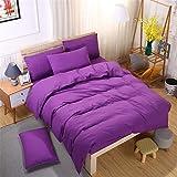 Chanyuan Juego de ropa de cama de 2 piezas, funda nórdica de 135 x 200 cm con funda de almohada de 80 x 80 cm, color morado, de microfibra 100%
