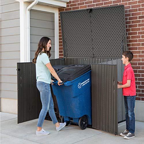 Lifetime Mülltonnenbox Kunststoff Mülltonnenbox, Gerätebox, Aufbewahrungsbox Dunkelgrau - 3
