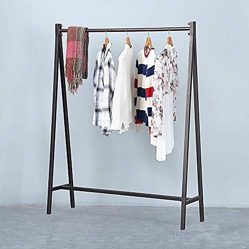 Metal Clothing Racks for Hanging ClothesUrban Commercial Clothes RacksModern Iron Heavy Duty Garment RackPortable Retail Display Rack Standing Clothes Rack59inBronze