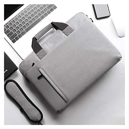 QIAOLI Laptop Bag 14 pollici/15,6 pollici Laptop Bag Borsa Borsa a tracolla Laptop Laptop Laptop Laptop Borsa Borsa per Uomini Donne Borsa a Tracolla (Colore: Grigio, Dimensioni: 15,6 cm)