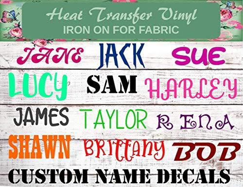 Custom Name Iron On, Personalized Name Iron On, Name Iron On, Custom...