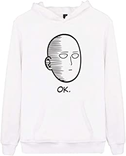 YEMOCILE Unisex Casual Face Pattern OK Printed Long Sleeve Pullover Tops Fashion Hooded Classic Outerwear