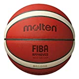MOLTEN BG5000 Fiba - Balón de Baloncesto, Color Naranja / marrón /Bronceado, tamaño 7