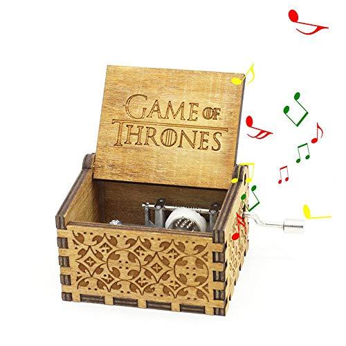 """Mano Pura Juego de Tronos clásico Caja de música Mano Caja de música de Madera artesanía de Madera Creativa Mejores Regalos \""""Game of Thrones\"""""""