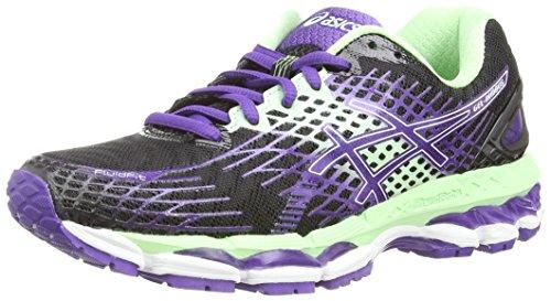 Asics Gel-Nimbus 17, Scarpe sportive, Donna, Colore Nero (Onyx/Purple/Mint), Taglia 4 UK (37 EU)