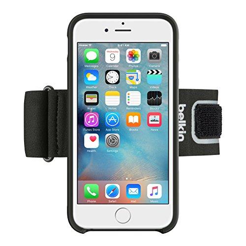 Belkin Clip-Fit Sport-Armband (atmungsaktives Neoprenmaterial, verstellbarer Riemen, geeignet für iPhone 6/6s) schwarz
