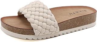 INMINPIN Sandali Moda Donna Eleganti Pantofole a Plateau Estiva Comode Antiscivolo Ciabatte la Zeppa