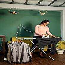 HNESS International Quality Ironing Board/Iron Table Stand with Press Holder, Foldable & Height Adjustable/Ironing Board w...