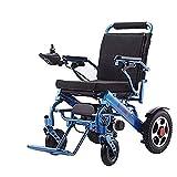 BXZ Silla de ruedas Ligera Función doble Plegable Discapacitados Silla de ruedas Ancianos Silla de ruedas eléctrica Sillas de ruedas eléctricas Aleación de aluminio Plegable Inteligente Ancianos Disc