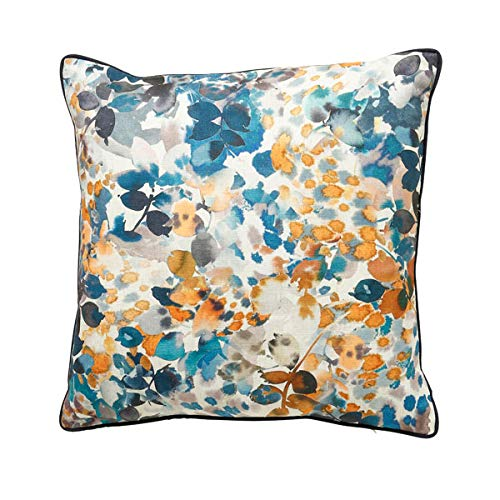 Scatterbox Cushion, Blue/Ochre, W45cm x L45cm (18')