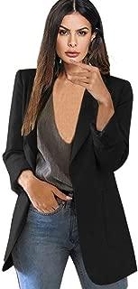 Women Long Sleeve Open Front Cardigan Jacket Work Office Blazer Plus Size