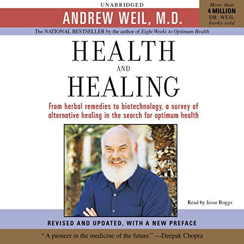 Health and Healing     The Philosophy of Integrative Medicine and Optimum Health              By:                                                                                                                                 Andrew Weil MD                               Narrated by:                                                                                                                                 Jesse Boggs                      Length: 11 hrs and 12 mins     14 ratings     Overall 4.2