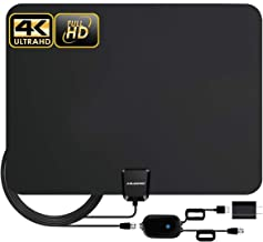 TV Antenna,Indoor Amplified Digital HDTV Antenna 90-120 Miles Range, 4K 1080P HD VHF UHF for Local Free Local HD TV Channels - 18 FT Coax Cable