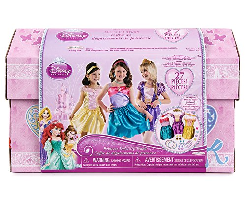 Disney Princess - 27 Piece Dress Up Trunk with Accessories - Ariel, Rapunzel, & Belle.