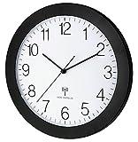 TFA Dostmann 60.3512.01 Orologio da Parete Radiocontrollato con Movimento Silenzioso 300 mm, Colore Nero