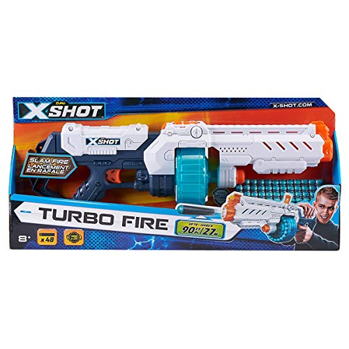 XSHOT- Turbo Fire Pistola, 36270, Color Blanco