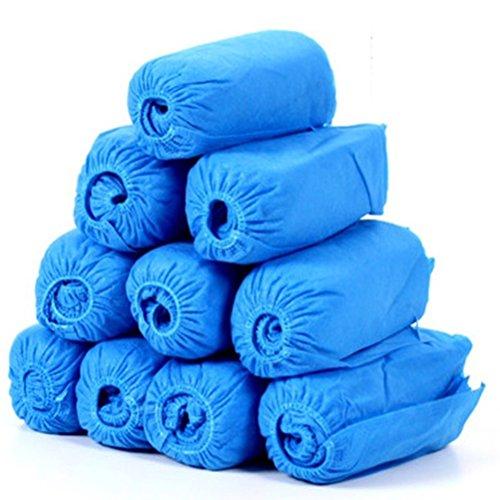 Ounona - Copri-scarpe / proteggi scarpe monouso, confezione da 100 pezzi - colore: azzurro