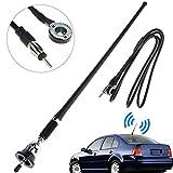 LinkStyle 16.9 Inch Car FM AM Radio Antenna, Flexible Mast Radio FM/AM Antenna