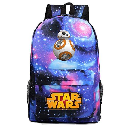Mochila Star BB-8 Wars, Mochila Casual para Adolescentes, Mochila Grande Ligera Escuela, Mochila de Senderismo de Viaje Medio color-18