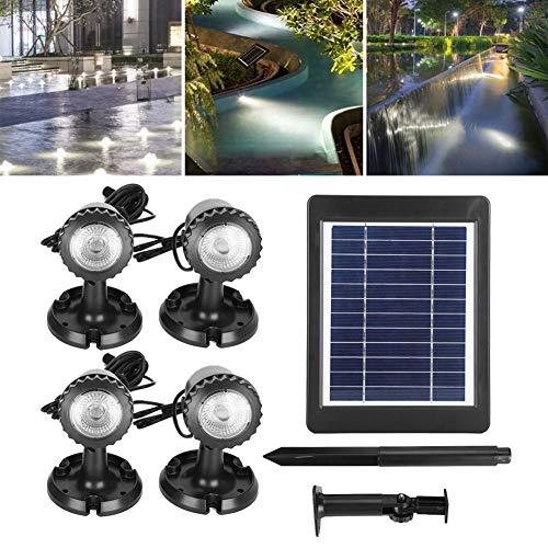 Cikonielf Foco Solar al Aire Libre, Impermeable, lámpara de Punto LED, lámpara...