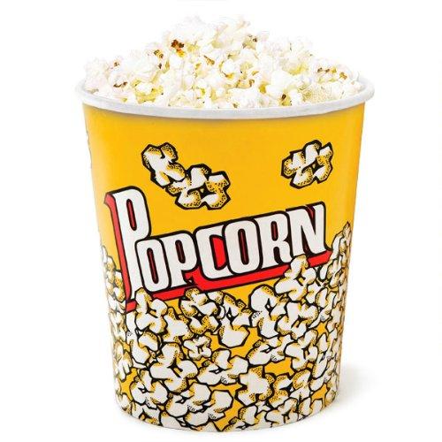 Drinkstuff - Set di 2 contenitori per pop-corn, misura grande, 3,8 l