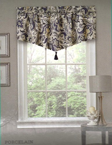 Traditions By Waverly Rustic Retreat Ascot Valance Color Pocelain