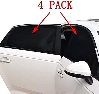 Car Window Shade -4 PACK- Car Sun Shade for Baby Car Side Rear Sun Shade Front Window Sunshade for Cars Trucks & SUVs