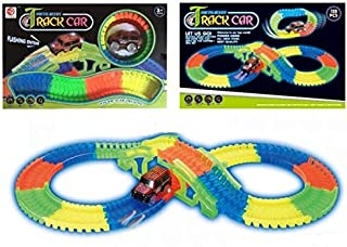 Kids  Magic Tracks 128 Pieces Glow In The Dark NOCTILUCENT TRACK CAR - 7203