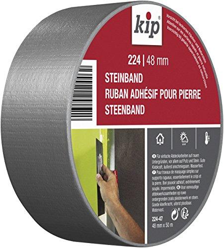 Kip Tape 224-47 Steinband – Wasserabweisendes Gewebeband aus PE für Putz und Stein – Panzertape für den Gebrauch drinnen und draußen – 48mm x 50m