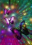 5D Diamond Painting Kits for Adults Gorgeous Butterfly Full Drill Embroidery DIY Painting with Crystal Rhinestone Cross Stitch Painting Arts Crafts for Home Wall Decor 12 X 16 Inches YANFUN