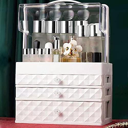 Caja de almacenamiento cosmética de gran capacidad, organizador de cajón de maquillaje, contenedor de maquillaje, cajas de almacenamiento para cuidado de la piel