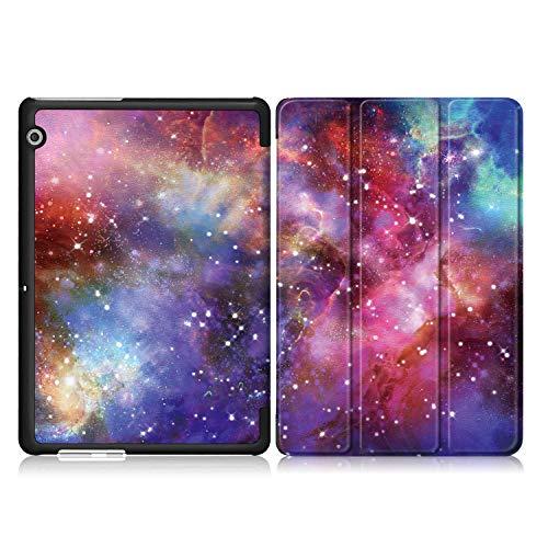 Xuanbeier Huawei MediaPad T3 10 Hülle Case-Ultra Dünn und Leicht PU Leder Schutzhülle Cover für Huawei MediaPad T3 10(9,6 Zoll) (Z-Galaxy) - 4