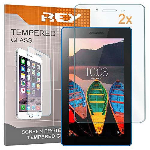 2X Protector de Pantalla para Lenovo Tab 3 710 Essential 7', Cristal Vidrio Templado Premium, Táblet
