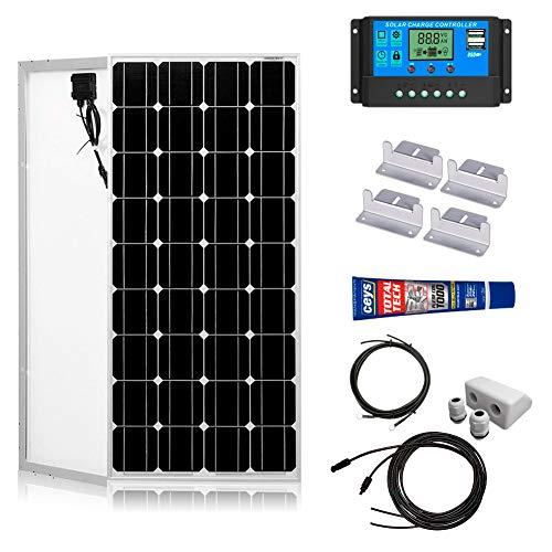 SolarCell Pack 100W Furgoneta Camper & Autocaravana - Kit Placa Solar 12V