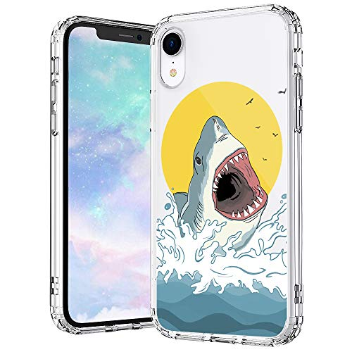 MOSNOVO Shark Pattern Designed for iPhone XR Case - Clear