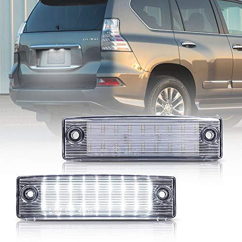 Luces de matrícula de Coche 2pcs LED LIGNO Número de matrícula Lámpara de luz Compatible con Toyota Land Cruiser Prado TRJ150 / GRJ15# / GDJ15# (Lexus GX 470) 2PCS CANBUS Universal
