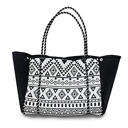 BKAUK Bolsa de playa multifuncional de neopreno, bolsa de gimnasio/viaje/piscina, bolsos de mano para mujeres y hombres con asas acolchadas envolventes